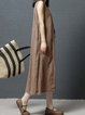 Shift Women Daytime Sleeveless Casual Cotton Solid Casual Dress