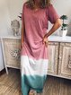 Women Casual Loose Tunic Maxi Dress