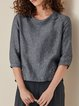 Womens Clothing Deep Gray Casual Buttoned Shirts