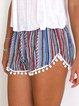 Stripes Fringed Beaded Pants