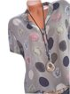 Plus Size Polka Dots Casual Women Summer Blouses