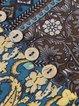 Vintage Floral Printed V-neck Buttoned Long Sleeve Dress