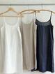 Solid Spaghetti-Strap Casual Dresses