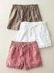 Women Pockets Solid Cotton-Blend Plus Size Pants
