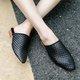 Women's Fashion Braided Low Heel Closed Toe Slip On Sandals