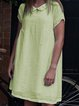 Women Casual Loose Peter Pan Collar Tops Tunic Maxi Dress