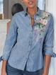 Shirt Collar Long Sleeve Shirts & Tops