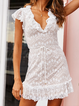 Frill Sleeve Daily Cotton-Blend Women Summer Mini Dresses