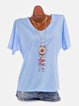 Short Sleeve Solid Casual T-Shirts