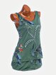 V Neck Women Casual Dresses Daily Casual Floral-Print Dresses