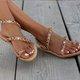 Multicolor Date Summer Boho Sandals