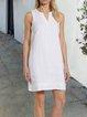 V Neck Women Summer Dresses Daily Casual Paneled Dresses