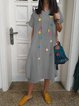 Crew Neck Women Casual Maxi Dresses