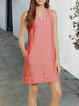 V Neck Women Summer Dresses Daily Casual Paneled Dresses