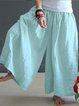 Soft Summer Loose Linen Wide Leg Women Maxi Pants