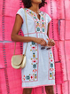 Casual Floral-Print Dresses