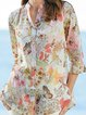 Tribal Printed Buttoned Down Chiffon Blouses