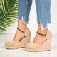 2018 Ankle Strap Espadrilles Wedges