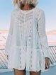 White Sexy Patchwork Cutout Cotton-Blend Dresses