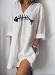 V Neck Short Sleeve Pockets Dresses