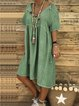 Plus Size V Neck Casual Short Sleeve Dresses