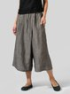 Solid Casual Cotton And Linen Pants