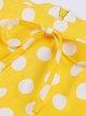 Retro Polka Dot Printed Dresses Women's Casual Sling Slim Dresses