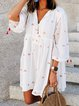 V Neck Women Summer Dresses Holiday Abstract Dresses