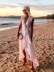 V Neck Women Dresses A-Line Going Out Chiffon Plain Dresses