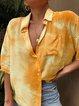 Loose fit button shirt ombre tie dye