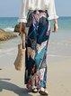 Women's Beach Pants National Wind Bohemian Wide Leg Pants
