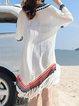 Beach Holiday Bikini Blouse Women's Long V-neck Sunscreen Swimsuit