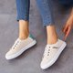 Fashion Simple Style Slip On All Season Sneakers