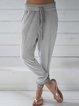 Light Gray Pockets Cotton-Blend Pants