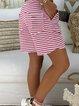 Casual Striped Women Shorts