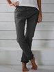 Cotton-Blend Pockets Pants