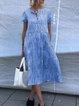 Plus Size Casual Short Sleeve Midi Dresses