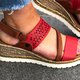 Magic Tape Wedge Sandals Open Toe Womens Shoes
