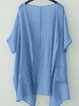 Womens Clothing Solid Paneled Short Sleeve Overall