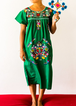 Summer Women's Embroidered Casual Crew Dresses
