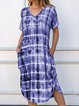 Women Casual Tie Dye Maxi Dresses