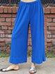 Women Pants Elastic Waist Casual Shift Pants