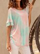 Tie Dyed Short Sleeve Casual Shirts