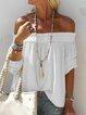 Women Casual Off Shoulder Tops Tunic Blouse Shirt