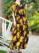 V Neck Women Dresses Shift Daytime Cotton Dresses