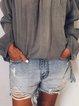 Blue Cotton-Blend Sweet Pants