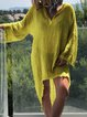 Asymmetric Solid Shift Daytime Boho Mini Dresses