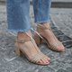 T-Strap Design Chunky Heel Ankle Strap Sandals