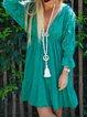 V Neck Long Sleeve Dresses