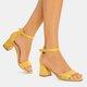 Open Toe Chunky Heel Adjustable Buckle Sandals